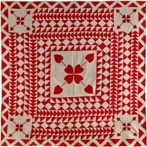St. Valentine's Patch Quilt, Artist Unidentified, USA 1860–1880